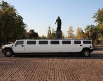 limusina branca do casamento Imagem de Stock