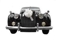 Limusina de la boda, coche viejo Foto de archivo libre de regalías