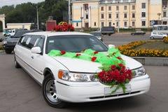 Limusina do casamento Foto de Stock Royalty Free