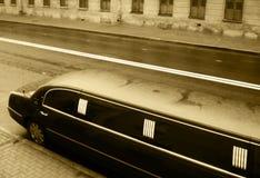 Limusina negra Foto de archivo libre de regalías