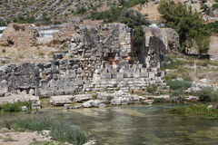 Limyra在安塔利亚,土耳其 免版税库存图片
