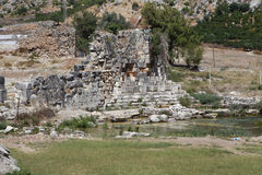 Limyra en Antalya, Turquía Imagen de archivo