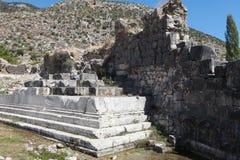 Limyra i Antalya, Turkiet Arkivbild