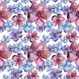 Lin coloré Fleur botanique florale Modèle sans couture de fond Texture d'impression de papier peint de tissu Photographie stock