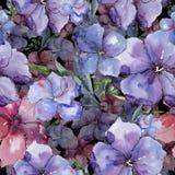 Lin coloré Fleur botanique florale Modèle sans couture de fond Texture d'impression de papier peint de tissu Images libres de droits