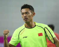 LIN Dan of China. INCHEON - SEP 25:LIN Dan of China participates in 2014 Incheon Asian Games at Gyeyang Gymnasium on September 25, 2014 in Incheon, South Korea stock photo