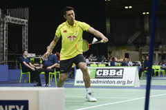 Lin Dan. RIO DE JANEIRO, BRAZIL - November 24, 2015: LIN Dan of China participates YONEX Brazil Open 2015 at RioCentro, The event is part of the test events for Stock Image