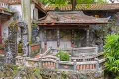 Lin familjträdgård i Taipei, Taiwan Arkivbilder