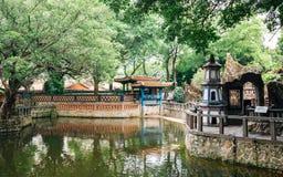 Lin Family Mansion e jardim em Taipei, Taiwan fotos de stock