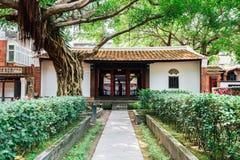 Lin Family Mansion e jardim em Taipei, Taiwan foto de stock