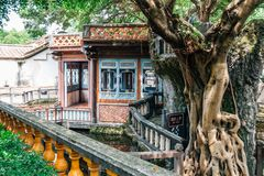 Lin Family Mansion e jardim em Taipei, Taiwan foto de stock royalty free