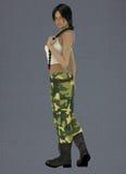Lin femenino el ejército Foto de archivo libre de regalías