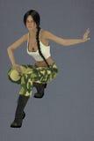 Lin femminile l'esercito Fotografie Stock
