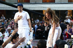 Lin-Manuel Miranda, Jennifer Lopez Royalty Free Stock Image