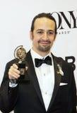 Lin-Manuel Miranda Wins em 70th Tonys anual Foto de Stock