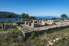 Lin mosaic, archaeology site in lake Ohrid. Albania Royalty Free Stock Image