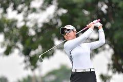 Lin Yezhou av Kina i förlagen 2017 för PTT Thailand LPGA Royaltyfri Bild