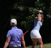 Lina Elmaster на дамах гольфа Fourqueux раскрывает Стоковая Фотография