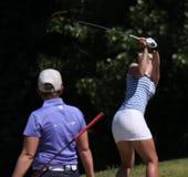 Lina Elmaster på de Fourqueux golfdamerna öppnar Arkivbild