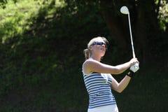 Lina Elmaster på de Fourqueux golfdamerna öppnar Arkivfoton