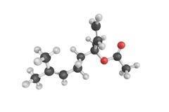 Linalyl polioctan, a naturalnie - zdarzający się phytochemical znajdującego w ma Obraz Stock
