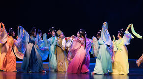 "linchuan†南部的大树枝江西opera""four梦想妻子和姘妇纪录  免版税库存图片"