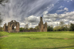 Lincluden Collegiate Church - East View Over Earthworks HDR Royalty Free Stock Image