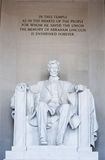 Lincoln. Memorial monuments washington dc Stock Image