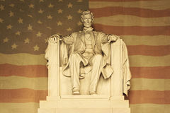 Lincoln with American flag Royalty Free Stock Photography