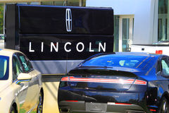 Lincoln Auto Dealership Royalty-vrije Stock Foto