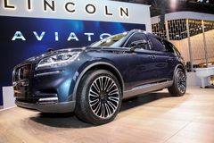 Lincoln Aviator indicato al New York International Auto Show 2018 fotografia stock