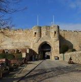 Lincoln Castle, de poort van het oosten Stock Afbeelding