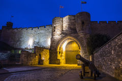 Lincoln Castle i Lincoln Arkivfoton