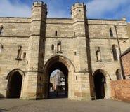 Lincoln Castle, porte est Images libres de droits