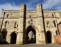 Lincoln Castle, porte est Photo libre de droits