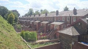 Lincoln castle Terraces Stock Image