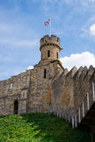 Lincoln Castle. A view of one of the turrets of Lincoln Castle, located in England, UK Stock Photography