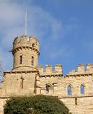 Lincoln Castle. View of Ruined tower of Lincoln Castle against blue sky Stock Images