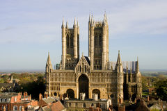 Lincoln Cathedral. (also known as The Cathedral Church of the Blessed Virgin Mary of Lincoln) in Lincoln, England Royalty Free Stock Photography