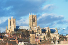 Lincoln Cathedral - 21/02/2014 Royaltyfri Bild
