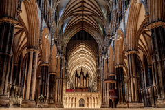 Lincoln Cathedral Stock Foto's