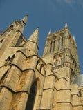 Lincoln Cathedral-Abschluss oben (Porträt) Lizenzfreie Stockfotografie