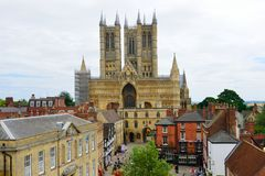Lincoln Cathedral from castle Stock Photo