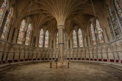 Lincoln Cathedral Chapter House Stock Photography