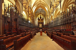 Lincoln Cathedral Choir Stalls Stock Image