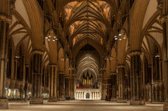Lincoln Cathedral England Royaltyfria Foton