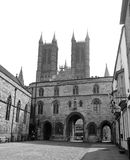 Lincoln Cathedral from Exchequer gate stock image