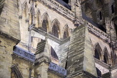 Lincoln cathedral in Great Britain night view Stock Photos
