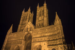 Lincoln Cathedral i Lincoln Arkivfoto