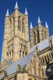Lincoln Cathedral i Lincoln UK Royaltyfri Fotografi
